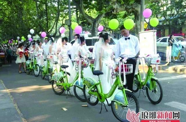 """临沂25对新人举行""""小绿""""低碳婚礼"""