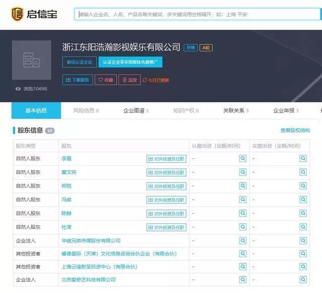 赵丽颖收入过亿,赵丽颖冯绍峰两人参股共16家公司