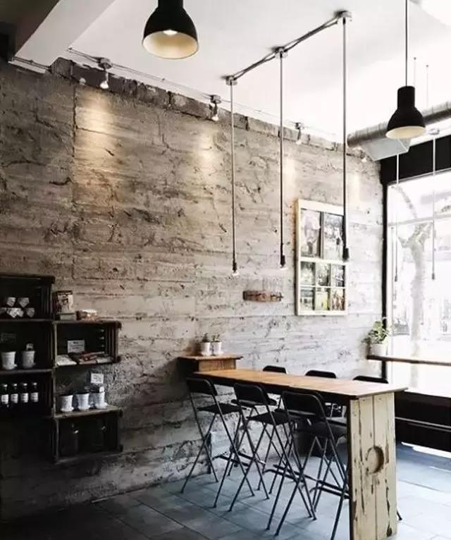 背景墙设计:一面斑驳的水泥墙背景墙面,仿佛扭转了时光!