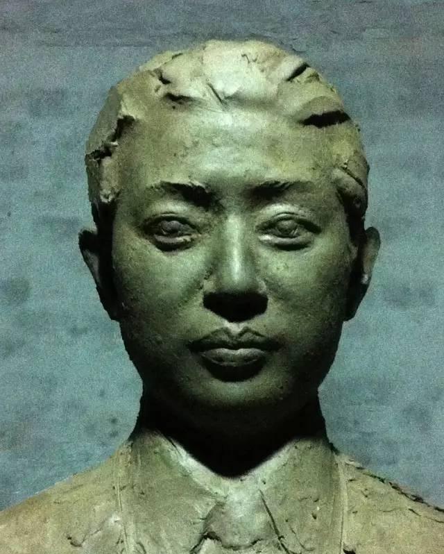 梅兰芳铸铜人物肖像雕塑