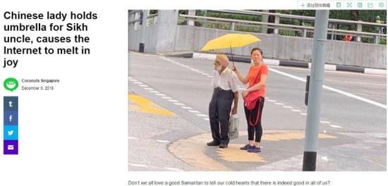 """中国姑娘在新加坡的小举动 让外国网友""""暖化了"""""""