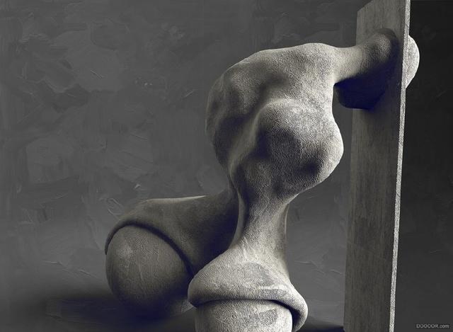 石材欧洲抽象人体雕塑
