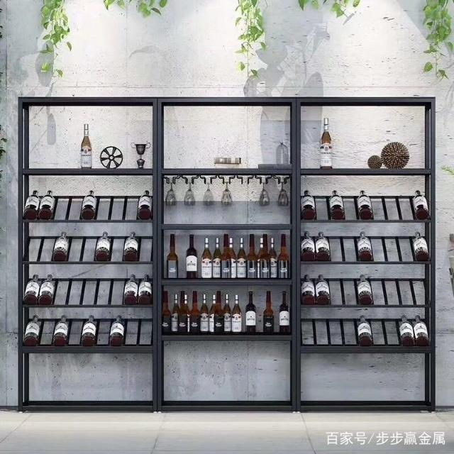 存放好酒的不二之选-镜面玫瑰金不锈钢酒架 让酒更加美味可口