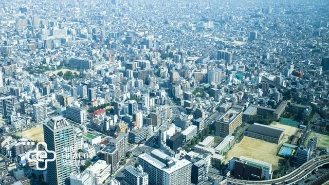 俯瞰繁华的大阪