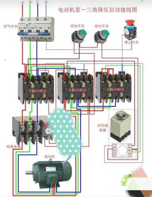 从这里认识注塑机马达的降压启动电路