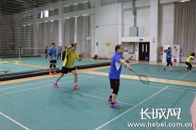 """2019年""""华为杯""""首届省会新闻界羽毛球邀请赛在河北师范大学开赛"""