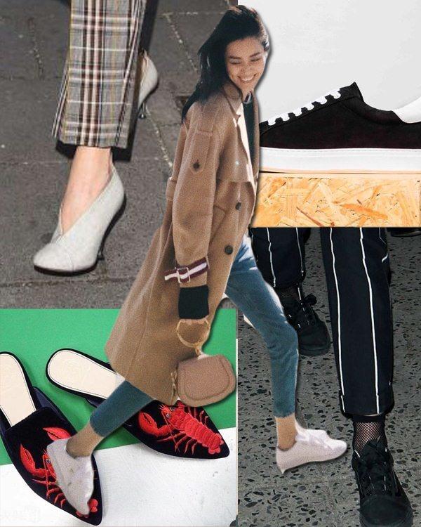 鞋櫃需要升級瞭!春天到底是小白鞋時髦還是拖鞋好看?