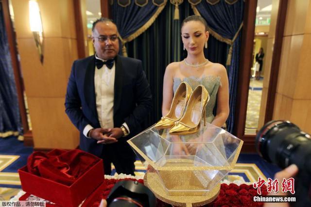 世界最贵镶钻鞋 豪出新境界!