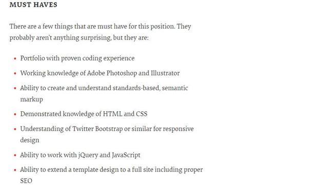网站国外:国外招聘WEB开发人员的要求,多数都要求会一种后台编程语言-U9SEO