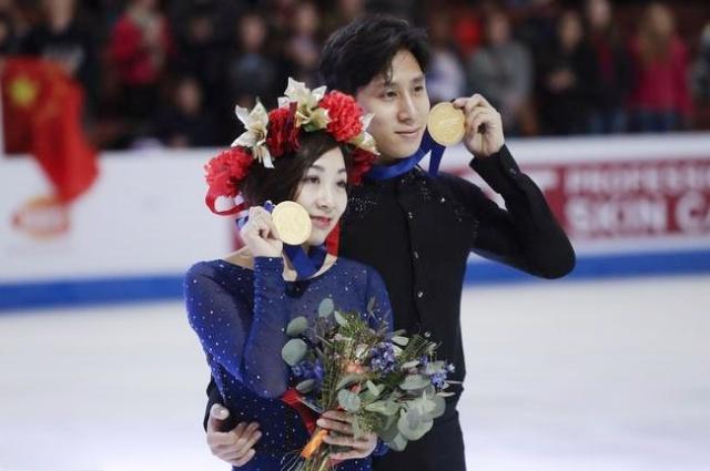 四大洲花样滑冰锦标赛 伤愈复出的隋韩第5次摘得四大洲双人滑冠军