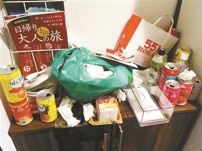 三名中国游客日本民宿乱地垃圾,素质低