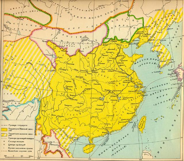 俄罗斯版历史地图之中国古代疆域,相对于英泰