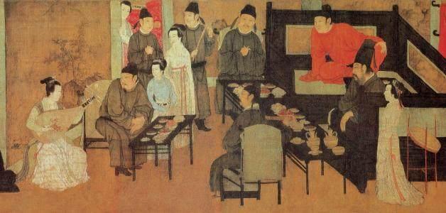 中国十大名画之一韩熙载夜宴图