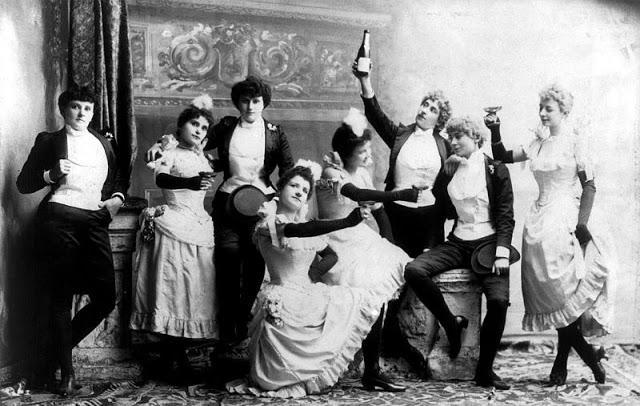 百年前,欧美的男女青年