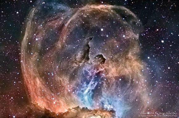现实中的自由女神星云