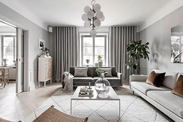 【现代】白+灰现代公寓, 塑造优雅设计感-第2张图片-赵波设计师_云南昆明室内设计师_黑色四叶草博客