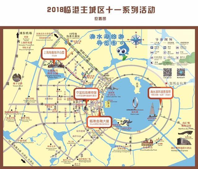 国庆节游临港:推荐滴水湖西岛、大隐书城、美食街