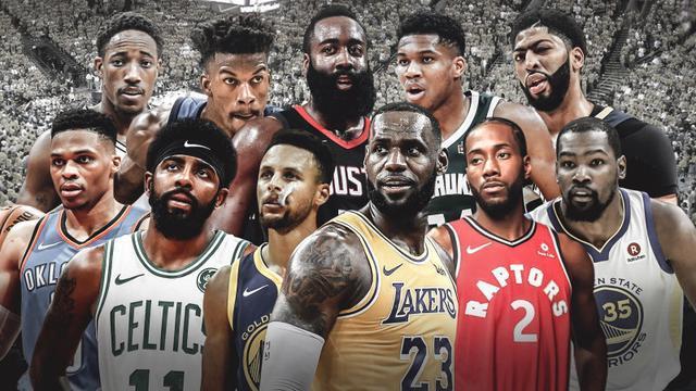 NBA过去五年季后赛场均得分榜:哈登第三