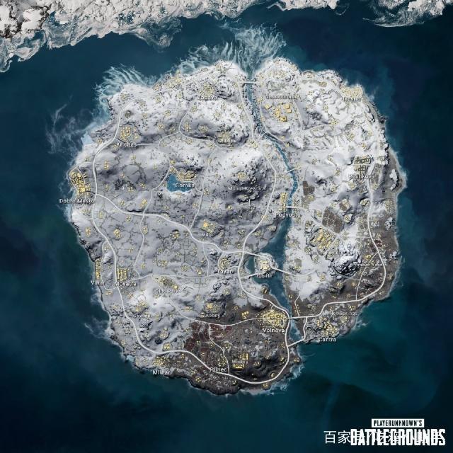 绝地求生:雪地地图上线 三级头重新回归地图!
