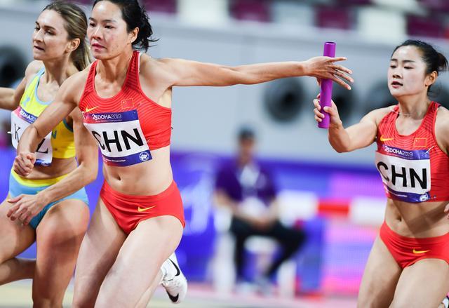 田径――亚锦赛:中国队夺得女子4X100米接力冠军