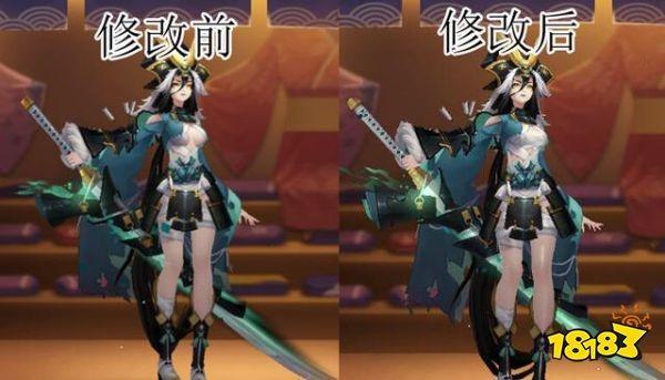 阴阳师妖刀姬模型再改 身材再次被迫缩水