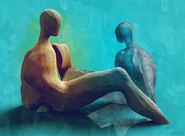 欧洲抽象人体雕塑3