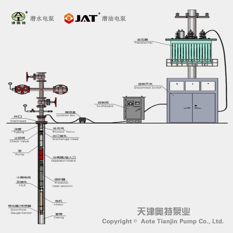 小直径潜油电泵_高扬程温泉泵厂家