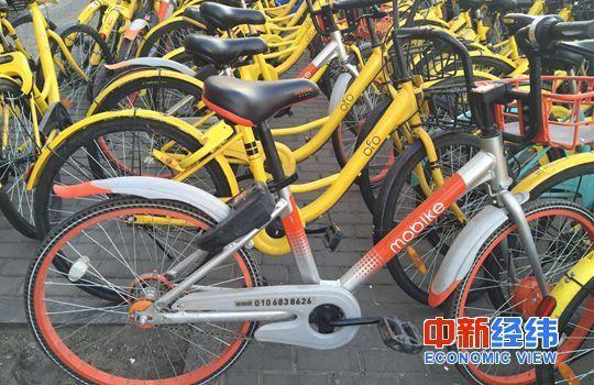 路边停放的共享单车。中新经纬刘虹利 摄
