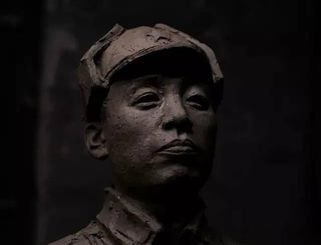 杨尚昆铸铜人物肖像雕塑
