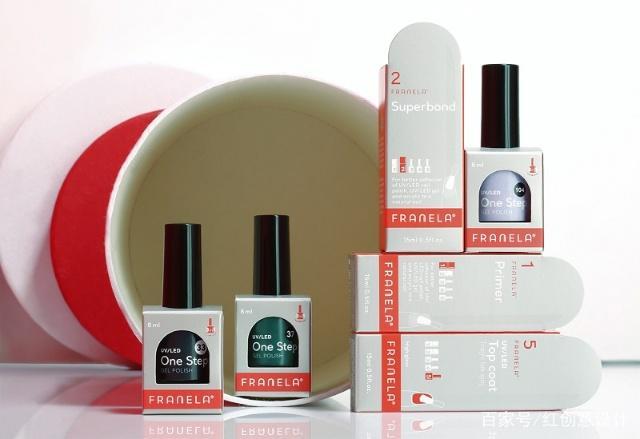 视觉风格化的系列指甲油包装设计
