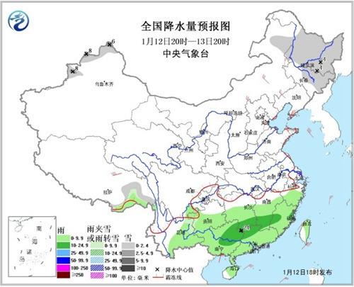 12日夜间至13日长江中下游有大雾黄淮东部等地有霾