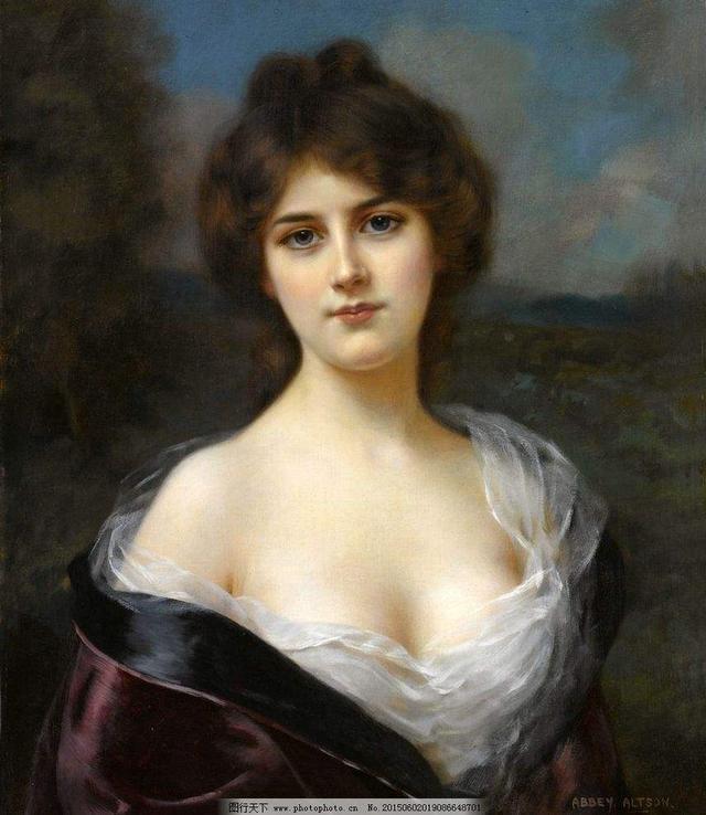 析现代彩墨画的技法,世界名画里迷人油画少女欣赏!最后一张太美了