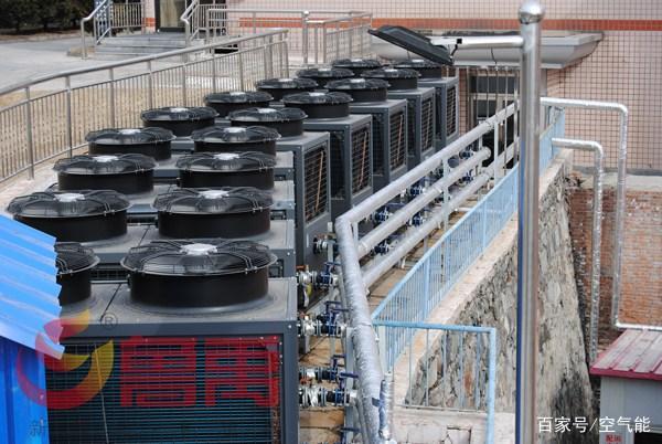 鲁禹空气源热泵热水器服务北京大安山煤矿400吨洗浴热水工程