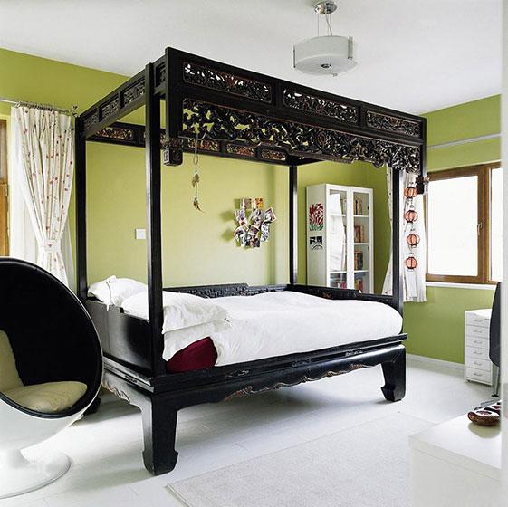 中式风格卧室床 ,10图大气卧室设计