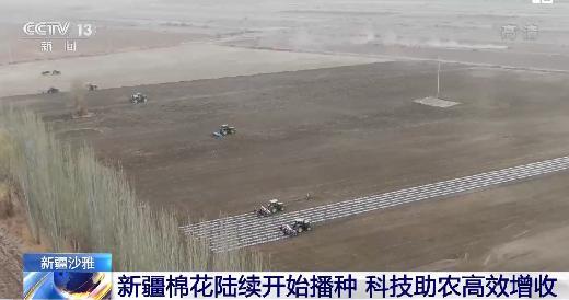 新疆棉花陸續開始播種 科技助農高效增收