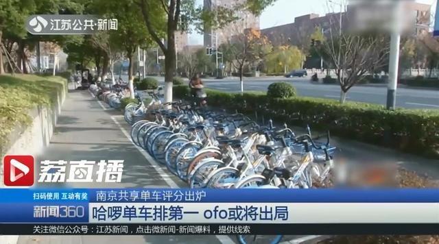 南京共享单车评分出炉:哈啰单车排名第一 ofo小黄车排名垫底