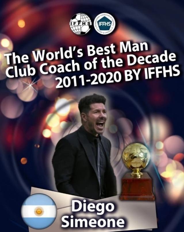 西蒙尼拿十年最佳教練惹爭議?國王杯輸弱旅還最佳,齊達內僅第七