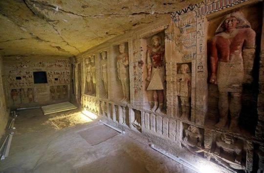 开罗发现祭司墓葬高清图曝光 祭司墓葬里面有什么详情介绍