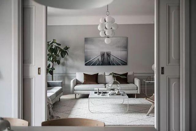【现代】白+灰现代公寓, 塑造优雅设计感-第3张图片-赵波设计师_云南昆明室内设计师_黑色四叶草博客