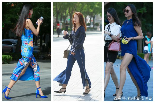 街拍:姑娘们喜欢穿着高跟鞋逛街,不仅仅是因为她们有好的身材
