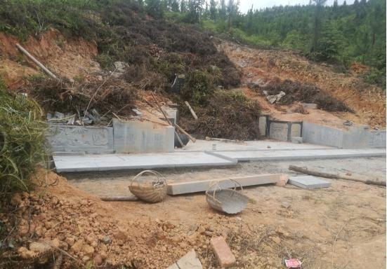 永泰县强化毁林建墓整治措施 拆除豪华活人墓