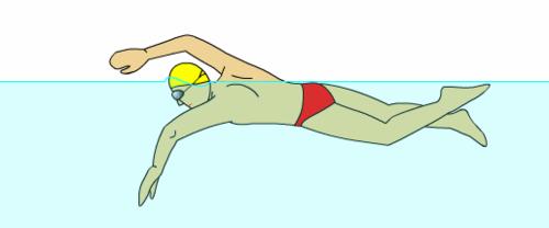 自由泳动作姿势图解及呼吸换气技巧    三联